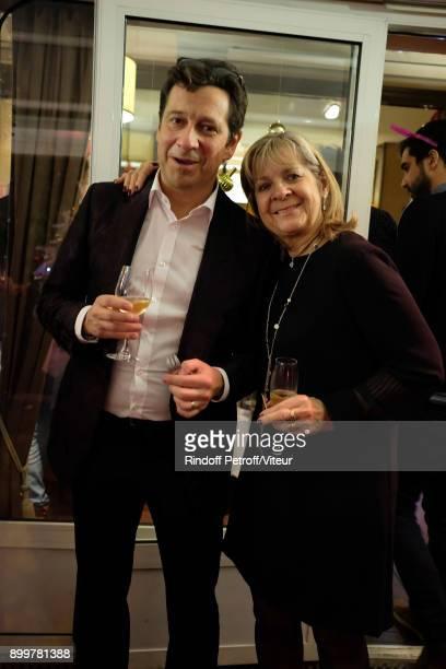 Laurent Gerra and his Mother Nicole celebrate Laurent Gerra 50th Anniversary at restaurant Chez Francoise on December 29 2017 in Paris France