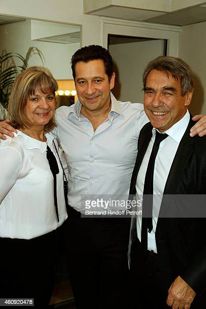 Laurent Gerra and his Parents Nicole Gerra and Nanou Gerra attend in Backstage the Laurent Gerra Show at Palais des Sports on December 2326 and 27...