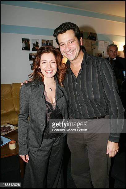 Laurent Gerra and Isabelle Boulay at Le Triomphe De Laurent Gerra At Olympia In Paris