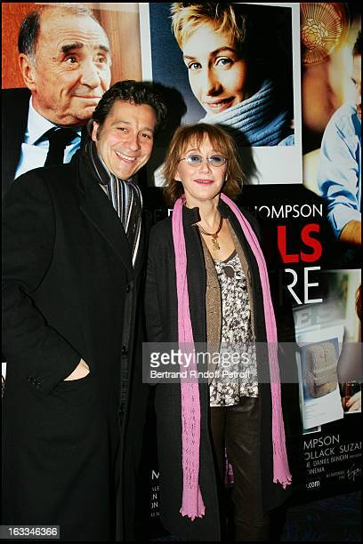 Laurent Gerra and Marie Anne Chazel at Film Premiere Of Fauteuil D'Orchestre At L' Ugc Normandie In Paris