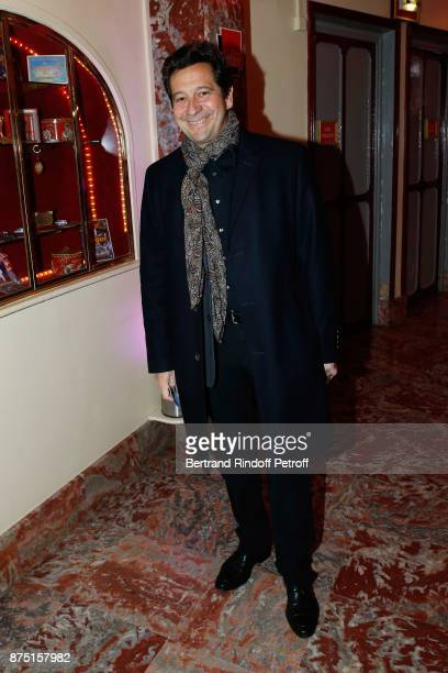 Laurent Gerra attends 'Depardieu Chante Barbara' at 'Le Cirque D'Hiver' on November 14 2017 in Paris France