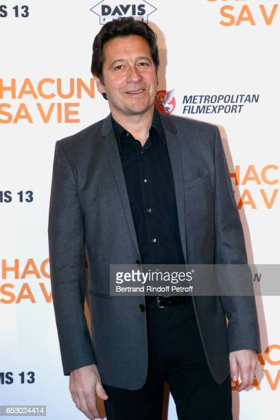 Laurent Gerra attends the 'Chacun sa vie' Paris Premiere at Cinema UGC Normandie on March 13 2017 in Paris France