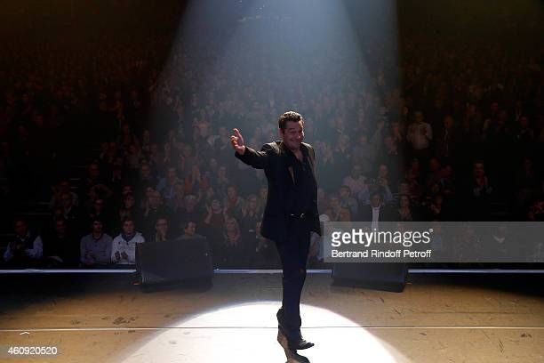 Laurent Gerra attends the Laurent Gerra Show at Palais des Sports on December 2326 and 27 2014 in Paris France