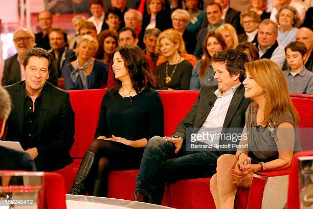 Laurent Gerra Cristiana Reali Guillaume Canet and Nicole Calfan attend 'Vivement Dimanche' French TV Show for the 80th anniversary of JeanPaul...