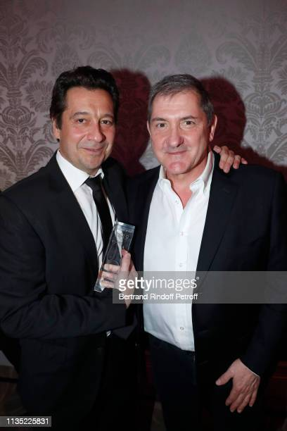 Laurent Gerra Gold Stethos for Humorist and Yves Calvi attend the Stethos d'Or 2019 Charity Gala of the Foundation for Physiological Research at on...