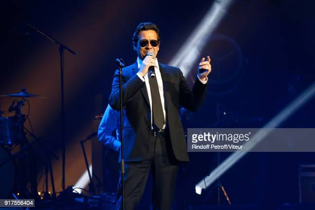 Laurent Gerra performs during the Charity Gala against Alzheimer's disease at Salle Pleyel on February 12 2018 in Paris France