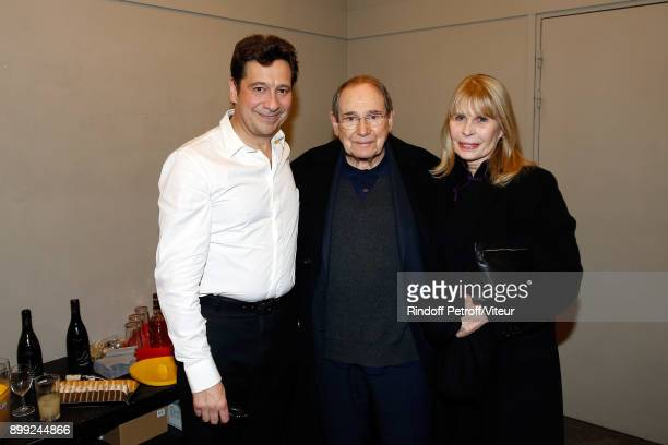 Laurent Gerra Robert Hossein and Candice Patou attend Laurent Gerra Sans Moderation Show at L'Olympia on December 26 2017 in Paris France