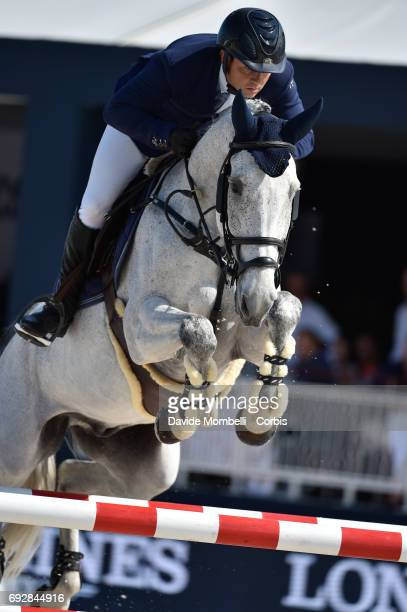 Laurent Guillet of France riding Uhlan Okkomut during the Longines Grand Prix Athina Onassis Horse Show on June 3 2017 in St Tropez France