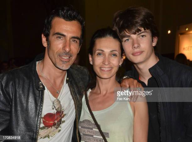 Laurent Hubert, Aitor Blondieau and Adeline Blondieau attend the '1 Million Intense' Paco Rabanne Perfume Launch and 'Boudoir Party By Club Chic' at...