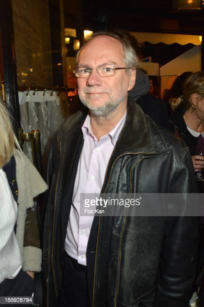 Laurent Joffrin attends the 'Prix De Flore 2012' Literary Award Ceremony Party at the Cafe de Flore on November 8 2012 in Paris France