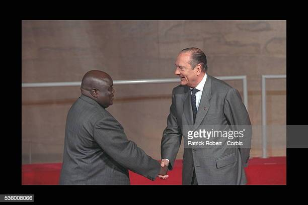 Laurent Kabila president of the Democratic Republic of Congo and Jacques Chirac