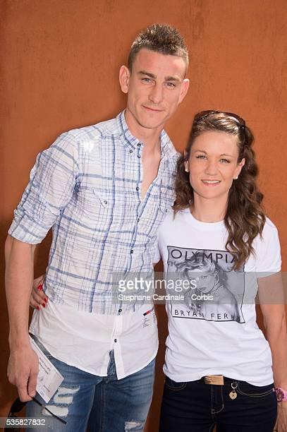 Laurent Koscielny and Claire at Roland Garros Village