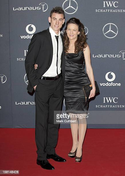 Laurent Koscielny And Wife Claire Arriving For 2012 Laureus World Sports Awards At Central Hall Westminster Storey'S Gate London
