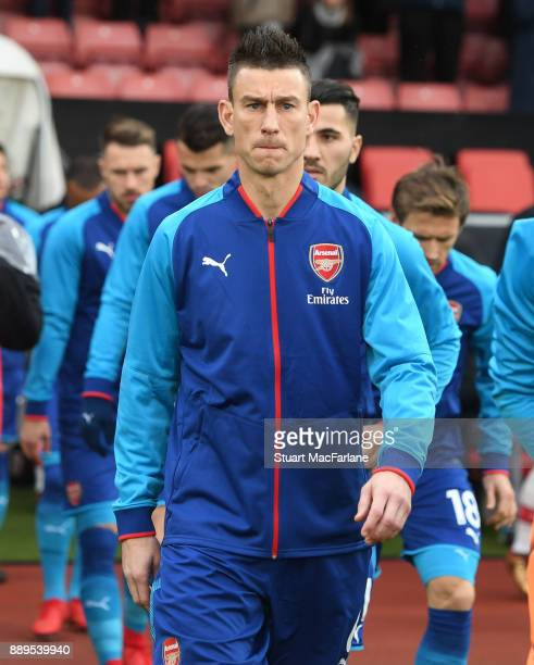 Laurent Koscielny of Arsenal before the Premier League match between Southampton and Arsenal at St Mary's Stadium on December 10 2017 in Southampton...