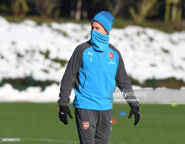 Laurent Koscielny of Arsenal during a training session at London Colney on December 12 2017 in St Albans England