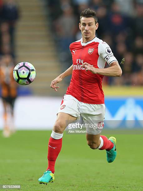 Laurent Koscielny of Arsenal during the Premier League match between Hull City and Arsenal at KCOM Stadium on September 17 2016 in Hull England