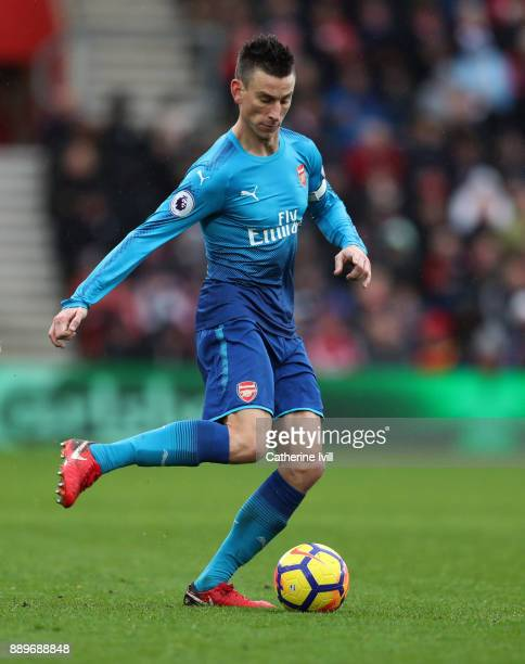 Laurent Koscielny of Arsenal during the Premier League match between Southampton and Arsenal at St Mary's Stadium on December 10 2017 in Southampton...