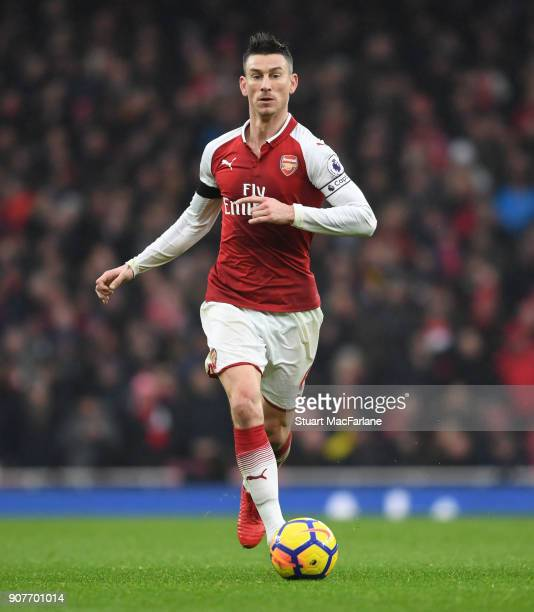 Laurent Koscielny of Arsenal during the Premier League match between Arsenal and Crystal Palace at Emirates Stadium on January 20 2018 in London...