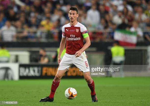 Laurent Koscielny of Arsenal during the UEFA Europa League Final between Chelsea and Arsenal at Baku Olimpiya Stadionu on May 29, 2019 in Baku,...