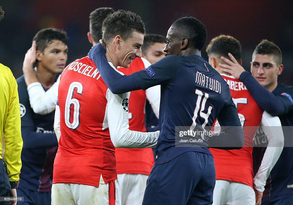 Arsenal FC v Paris Saint-Germain - UEFA Champions League : News Photo