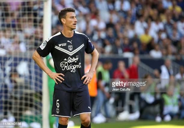 Laurent Koscielny of Bordeaux during the Ligue 1 match between FC Girondins de Bordeaux and Paris Saint-Germain at Stade Matmut Atlantique on...