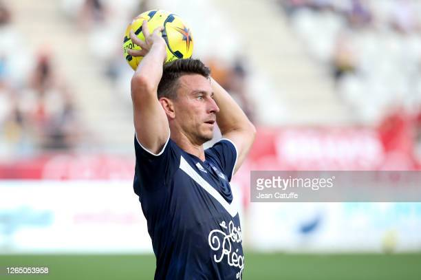 Laurent Koscielny of Bordeaux during the pre-season friendly match between Stade de Reims and FC Girondins Bordeaux at Stade Auguste Delaune on...