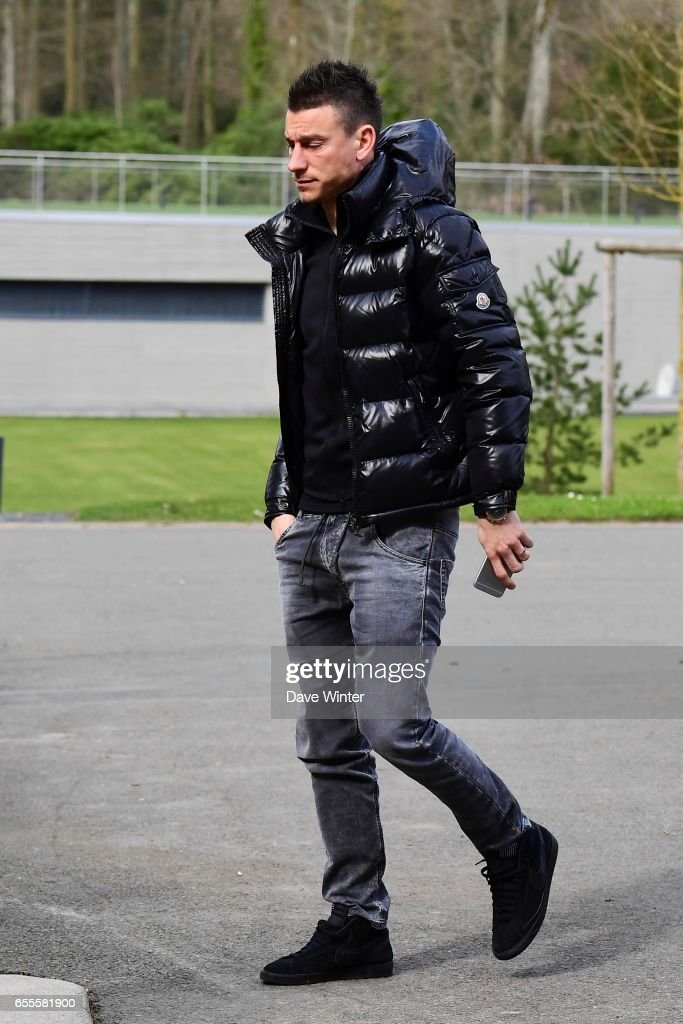 Laurent Koscielny of France arriving at Centre National du Football on March 20, 2017 in Clairefontaine, France.