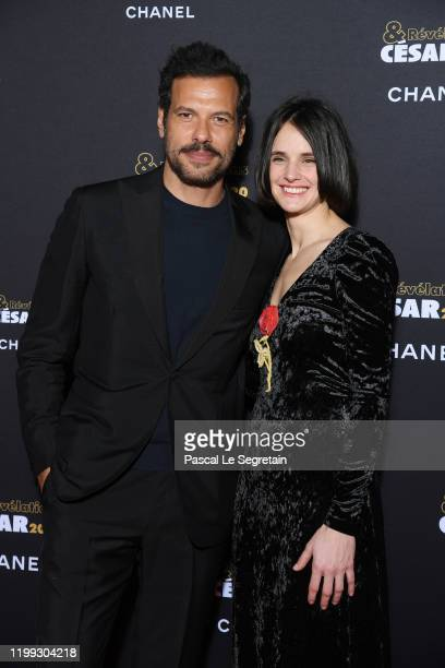 Laurent Lafitte and Jennifer Decker attend the Cesar Revelations 2020 Photocall at Petit Palais on January 13 2020 in Paris France