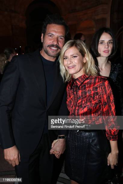 Laurent Lafitte Marina Fois and Jennifer Decker attend the Cesar Revelations 2020 Photocall at Petit Palais on January 13 2020 in Paris France
