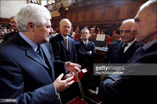 Laurent Le Mesle takes his functions of general attorney In Paris France On October 08 2006Pascal Clement Minister of Justice