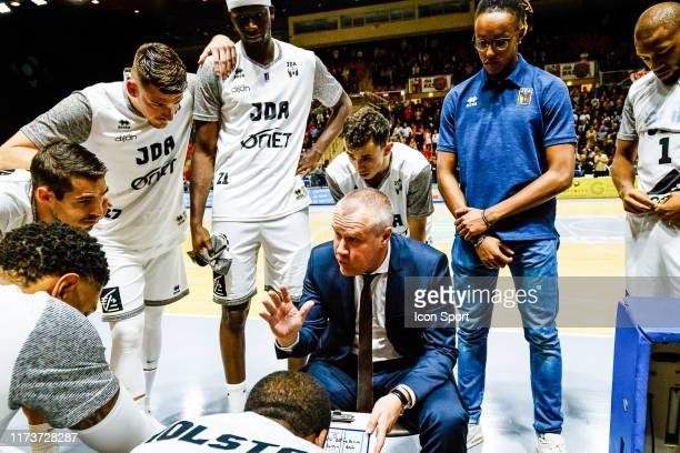 Laurent LEGNAME head coach of Dijon during the Jeep Elite match between Dijon and Nanterre 92 on October 4, 2019 in Dijon, France.