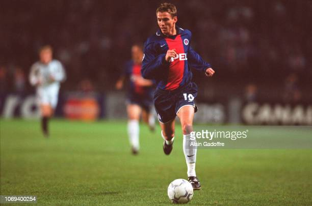 Laurent LEROY during the champions league match between Paris Saint Germain and Rosenborg on October 24 2000 in Paris France