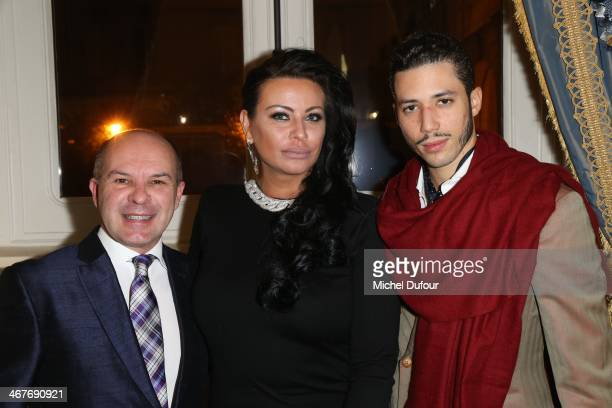 Laurent Marie Affre SAR Princesse Kasia Al Thani and Stefan D'Angieri attend 'The Children for Peace' Gala At Cercle Interallie In Paris at Cercle...