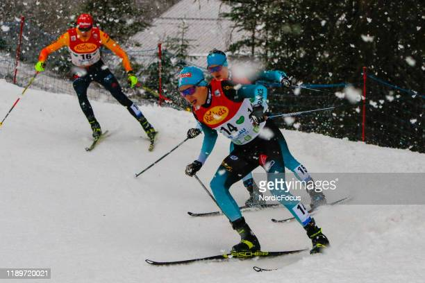 Laurent Muhlethaler competes in the FIS Nordic Combined World Cup, Individual Gundersen , on December 21, 2019 in Ramsau am Dachstein, Austria.