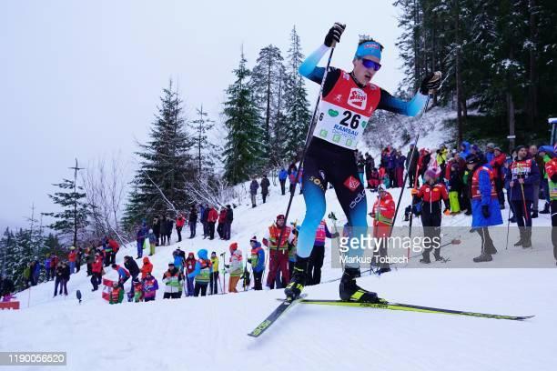 Laurent Muhlethaler of France during the Men's Gundersen Large Hill HS 98/10.0 km at the Vismann Fis Nordic Combined World Cup at WM Stadion Ramsau...