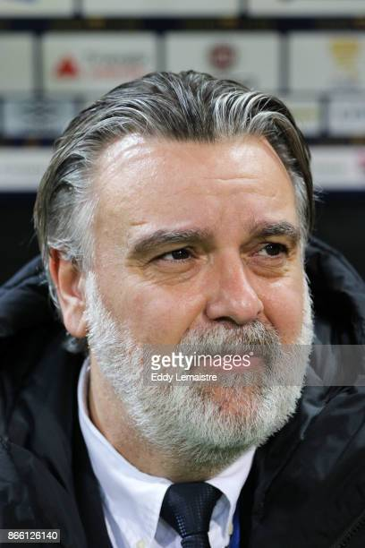 Laurent Nicollin president of Montpellier during the French League Cup match between EA Guingamp and Montpellier Herault SC on October 24 2017 in...