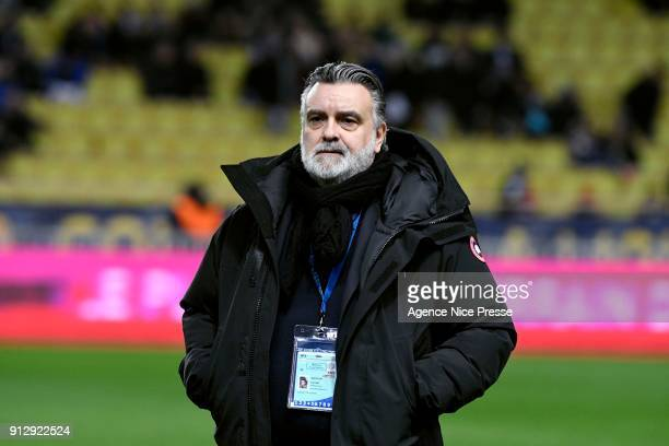 Laurent Nicollin president of Montpellier during the League Cup semi final match between Monaco and Montpellier at Stade Louis II on January 31 2018...
