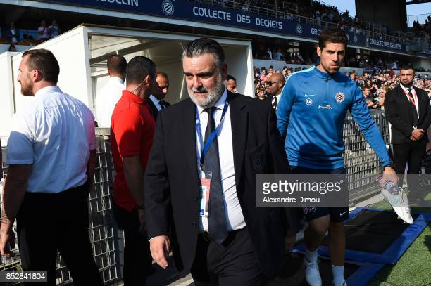 Laurent Nicollin President of Montpellier during the Ligue 1 match between Montpellier Herault SC and Paris Saint Germain at Stade de la Mosson on...
