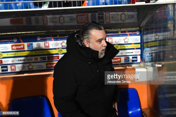 Laurent Nicollin President of Montpellier during the Ligue 1 match between Montpellier Herault SC and Metz at Stade de la Mosson on December 16 2017...