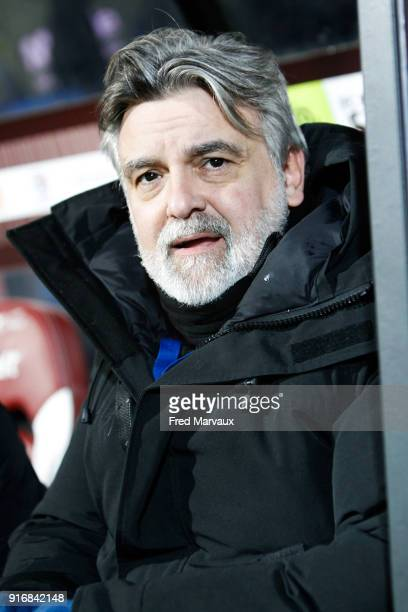 Laurent Nicollin president of Montpellier during the Ligue 1 match between Metz and Montpellier Herault SC at on February 10 2018 in Metz