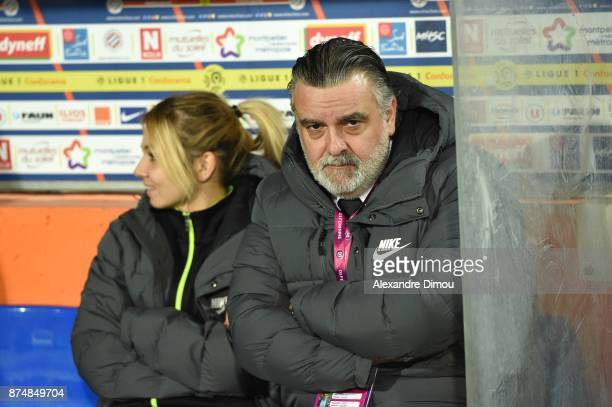 Laurent Nicollin President of Montpellier during the UEFA women's Champions League match Round of 16 second leg between Montpellier and Brescia on...