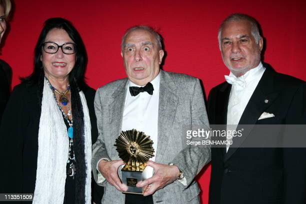 Laurent Perrier Price At The Pavillon Of Armenonville In Paris, France On November 20, 2006 - Nana Mouskouri; Claude Chabrol; Jean Claude Brialy.