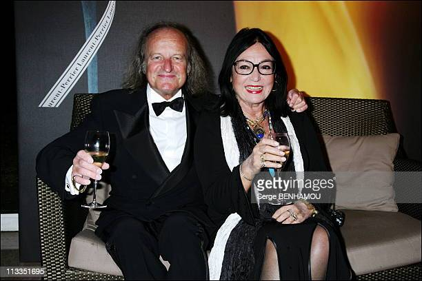 Laurent Perrier Price At The Pavillon Of Armenonville In Paris France On November 20 2006 Nana Mouskouri and her husband