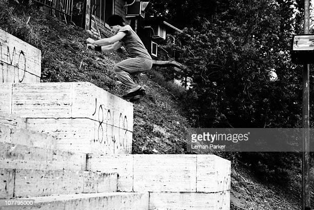 Laurent Piemontesi Jumps in Rome