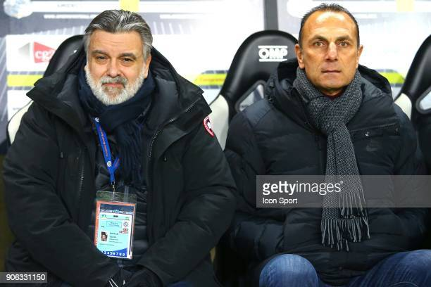 Laurent president of Montpellier and DER ZAKARIAN Michel coach of Montpellier during the Ligue 1 match between Amiens SC and Montpellier Herault SC...