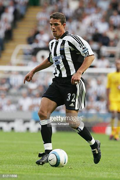 Laurent Robert of Newcastle United runs with the ball during the Barclays Premiership match between Newcastle United and Tottenhan Hotspur at St...