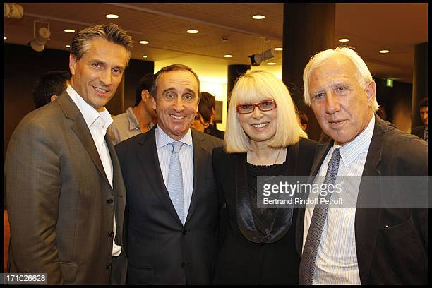 Laurent Rousel Francois Curiel Mireille Darc Professor Alain Deloche at Christie's Auction Of Richard Melloul Photographs In Benefit Of Association...