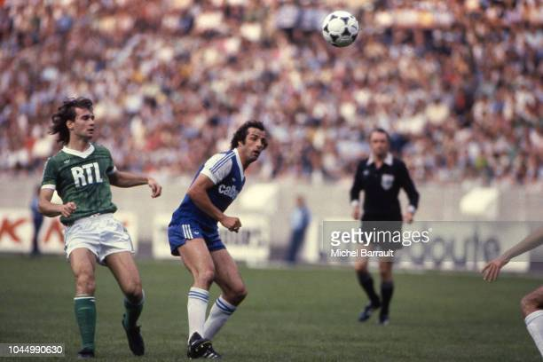 Laurent Roussey of Saint Etienne and Charles Orlanducci during the French national cup final match between Bastia and St Etienne at Parc des Princes...