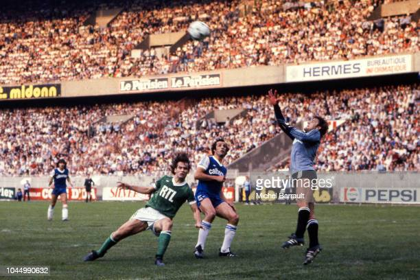 Laurent Roussey of Saint Etienne Charles Orlanducci and Pierrick Hiard of Bastia during the French national cup final match between Bastia and St...