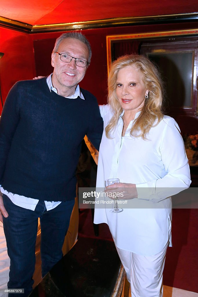 Laurent Ruquier and Sylvie Vartan attend Sylvie Vartan triumphs in the Theater Play 'Ne me regardez pas comme ca !', performed at 'Theatre Des Varietes' on October 04, 2015 in Paris, France.